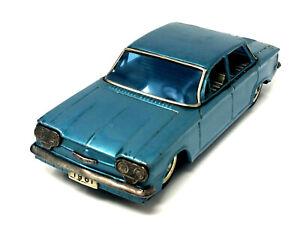 """Bandai Chevy Corvair  Friction Tin Toy  8 1/4"""" Japan 1961 (Sh)"""