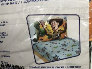 Disney Toy Story - Power up 2 Pack Toddler Sheet Set - Free Fast Shipping!