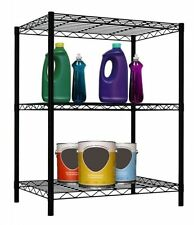 3 Layer Wire Shelving Rack Unit Storage Adjustable Metal Shelf Garage Organizer