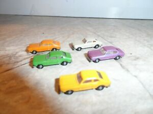 MERIT HOBBY N SCALE  FORD CAPRI AUTOMOBILES LOT OF 5