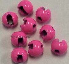 "TUNGSTEN SLOTTED FLY TYING BEADS HOT PINK 2.0 MM 5/64 "" 100 COUNT"
