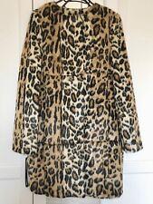 447a7c20ae9 Topshop Faux Fur Animal Leopard Print Coat - Size UK 8
