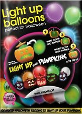 Mixed Colour illoom Balloons - a pack of 5 led balloons - light up your pumpkins