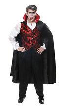 Vampiro Conte Dracula Halloween fantasia Abito Taglia M-L Costume Vestito