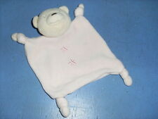 SPT3/ DOUDOU  ABSORBA OURS PLAT  ROSE ETOILE NOUETTES COMME NEUF