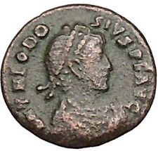THEODOSIUS I the Great 388AD RARE Ancient  Roman Coin Nike Victory Cult  i40420