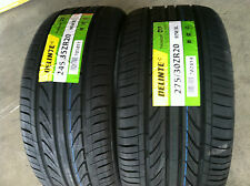 NEW Set of (4) 245 35 20 (x2) & 275 30 20 (x2) DELINTE Thunder D7 series tires
