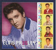 Palau 2012 MNH Elvis Presley 35th Anniversary 4v M/S II King Rock Roll
