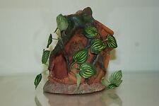 Vivarium Large Pot Vase With Root & Silk Plants 16 x 12.5 x 18 cms For Reptiles