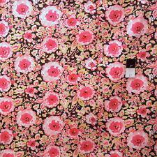 Dena Designs PWDF120 London Manchester Black Floral Cotton Fabric By Yard