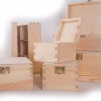 CHOICE of 100 Small & Medium Wooden Storage Boxes / Memory Keepsake Chest Box