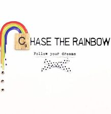 Follow Your Dreams Bexyboo Scrabbley Neon Card Handmade Greeting Cards