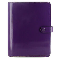 Filofax The Original A5 Organiser Patent Purple Leather With 12 Month Diary