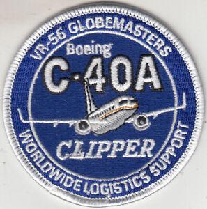 VR-56 GLOBEMASTERS C-40A CLIPPER SHOULDER PATCH
