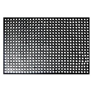 "Black Rubber Floor Mat 36"" x 60"" Anti-Fatigue Black Restaurant Bar Non-Slip"