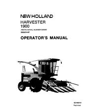 NEW HOLLAND 1900 S.P. Harvester SN 500000 above  TRACTOR OPERATORS MANUAL