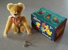 "Antique Schuco Rare vintage tumbling acrobat bear w/key and box. Works! 5"" long"