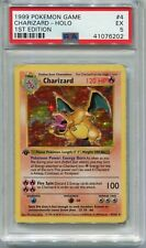 Pokemon Card 1st Edition Shadowless Charizard Base Set 4/102, PSA 5 Excellent