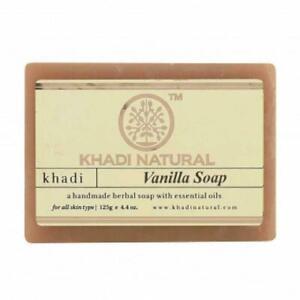 Khadi Natural Herbal Vanilla Soap For skin glow and charm 125gm Pack of 2