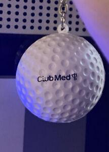 Club Med golf ball key chain souvenir Keepsake Fun Gift! Vintage