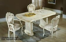 Elizabeth Italian Beige/Cream Luxury Dining Table and 6 Chairs