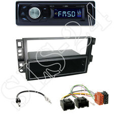 Caliber RMD021 Radio + Chevrolet 2-DIN Blende schwarz + ISO-Adapter SET