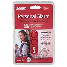 SABRE Personal Self-Defense Safety Alarm on Key Ring with LOUD Dual Alarm Siren