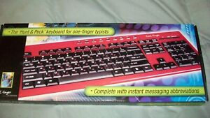 Keyboard ... The Hunt And Peck Keyboard For One Finger Typist