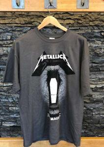 Metallica: Official Tour Merchandise Grey Death Magnetic Coffin T-shirt L NEW