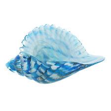Glass Blue SHELL Decorative Figurine Gift Bathroom Ornament