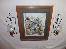 Home Interiors   ''Birdhouses & Daisy '' Picture  Sconces  7pc  Gorgeous