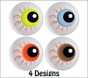 144 x Halloween Stickers Trick Or treat Gifts - Eyeball Theme - Spooky