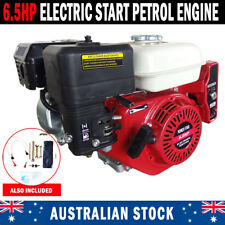 NEW Electric Start 6.5HP OHV Stationary Petrol Engine Horizontal Shaft