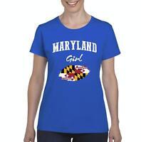 Maryland Girl  Women Shirts T-Shirt Tee