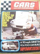CARS CAR CONVERSIONS MAGAZINE SEP 1971 GINETTA SUPERVANS SECRET MAZDA R100