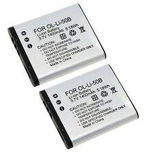 2pcs Batterie Li-ion Rechargeable Battery Remplacement Pour Olympus Li-50B