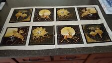 A Golden Holiday Panel 23x42 Laurie Cook Quilting Treasures Bronze Gold Black