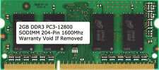 2GB DDR3 1600 PC3-12800 204 Pin 1600MHz Laptop RAM Sodimm Notebook Memory