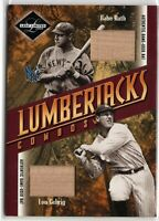 2003 Leaf Limited Lumberjacks Combos Bat Babe Ruth Lou Gehrig 4/15 Jersey #!!!!