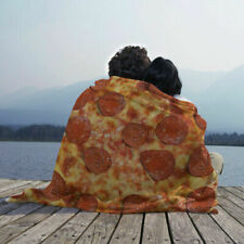 Pizza blanket for home, walks and rest, warm and soft plaid