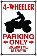 4 Wheeler Parking Only Great Gift  Parking Metal Sign Free Shipping