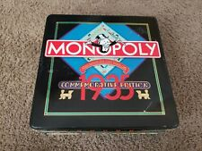 Vtg Monopoly 1935 Commemorative Tin 50 Years 1985 Board Game Parker Brothers