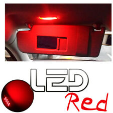 Volkswagen GOLF 6 VI- 2 Ampoules LED RED Rouge Miroirs courtoisie Pare soleil