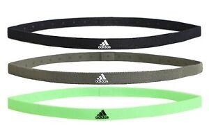 Adidas Unisex Hair-Band 3PP Headband Running Black Green Casual GYM Bands GE2009