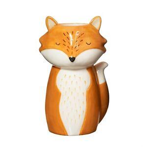 Sass & Belle Forest Folk Finley Fox Flower Ceramic Vase Planter Home Decor