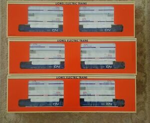 3x Lionel 16912 - Canadian National Maxi Stack Flatcar w/Containers - NIB!