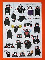 A4 SET OF 24 Kumamon Bear mascot Kumamoto Japan Travel Stickers Luggage Label