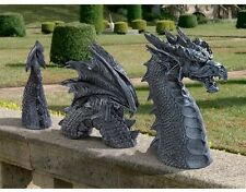 Dragon Garden Statue Sculpture Figurine Lawn Patio Outdoor Decor Fantasy
