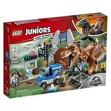 LEGO Juniors Jurassic World T Rex Breakout Building Play Set 10758 NEW NIB Cars