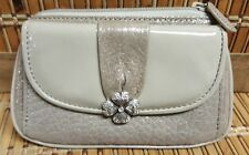 New Brighton Lucky Charm Pouch Patent Leather Small White Gold NWT